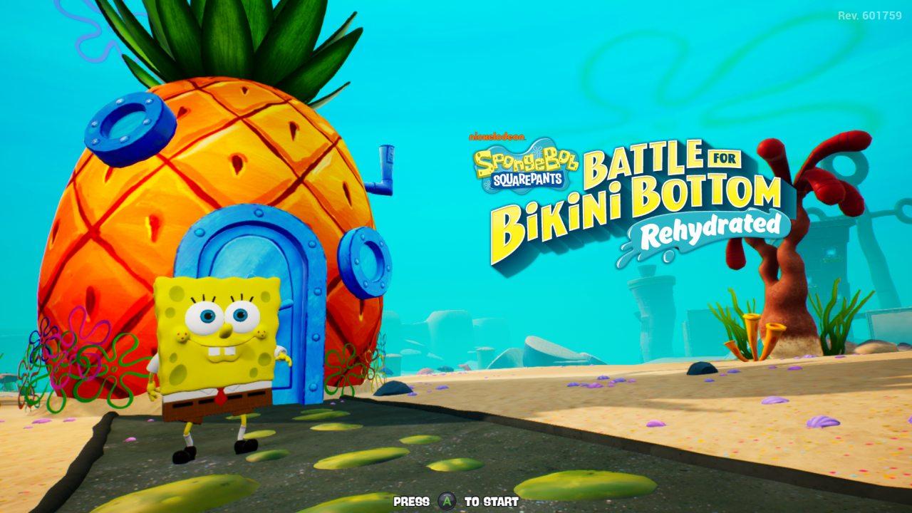Spongebob Hydrated Title Screen