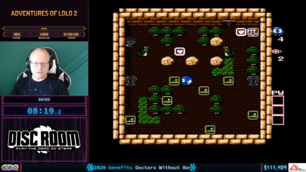 Adventures of Lolo 2 at SGDQ 2020 Day two