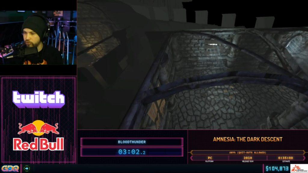 Amnesia the Dark Descent at SGDQ 2020
