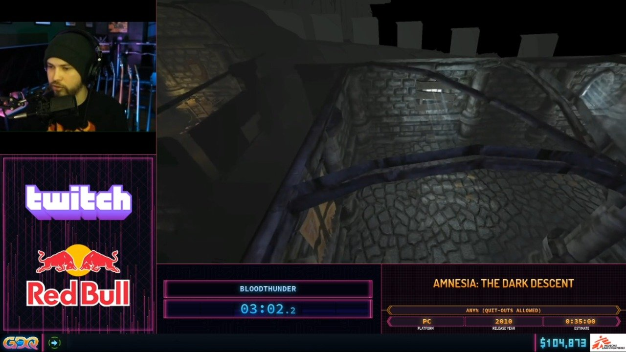Amnesia the Dark Descent at SGDQ 2020