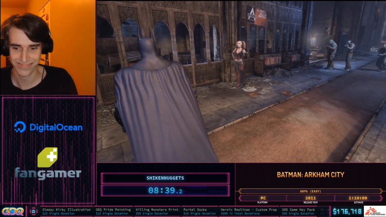 Batman Arkham City at SGDQ 2020