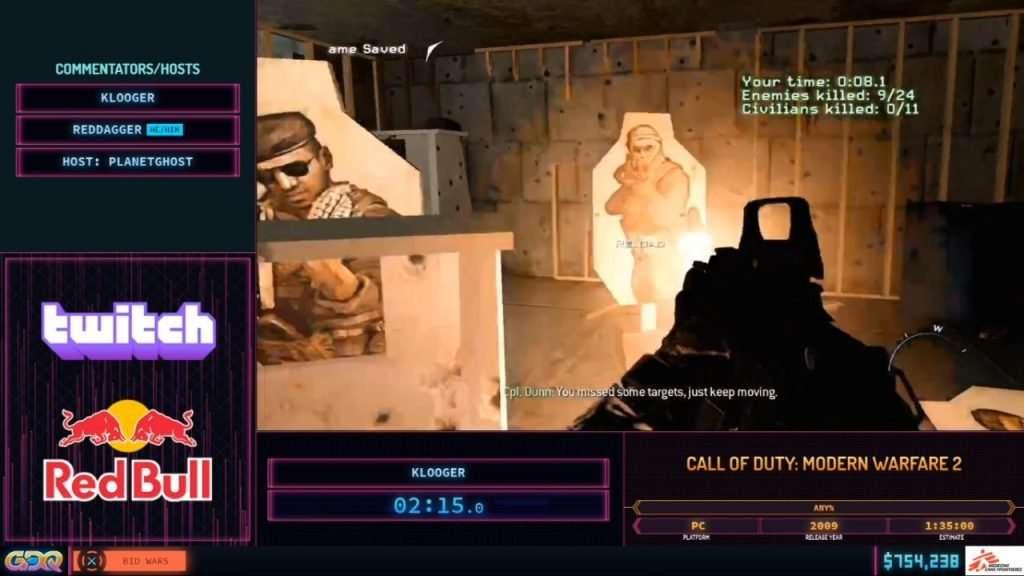 SGDQ 2020 Call of Duty Modern Warfare 2