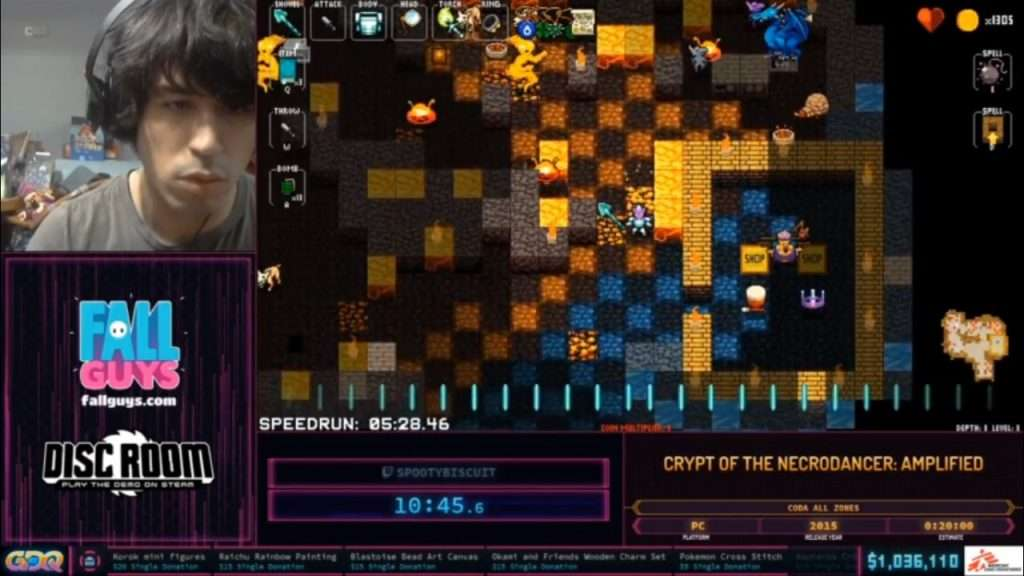 SGDQ 2020 Crypt of the NecroDancer