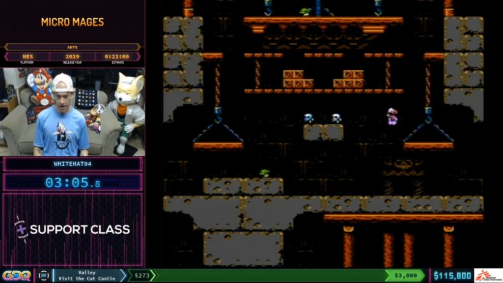 Micro Mages Speedrun at SGDQ 2020