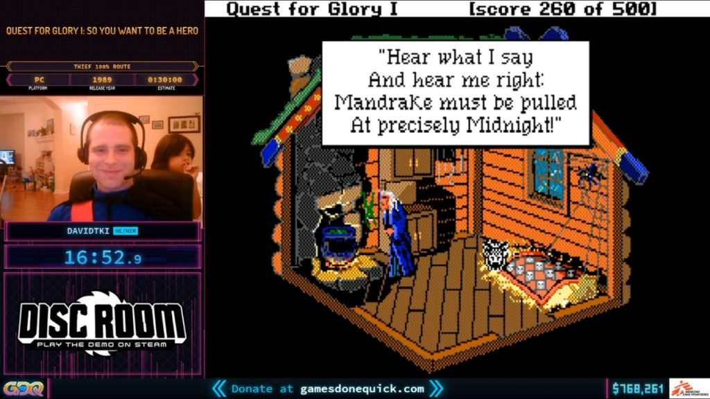 SGDQ 2020 Quest for Glory
