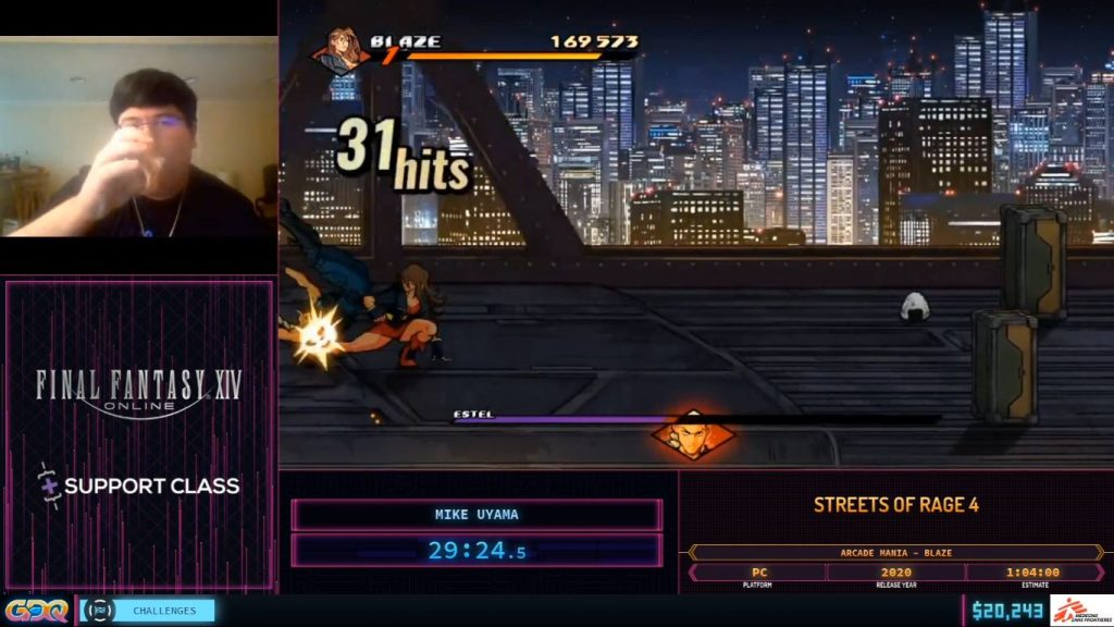 Streets of Rage 4 SGDQ 2020