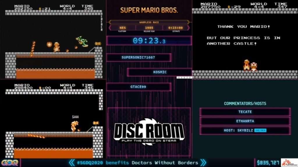 SGDQ 2020 Super Mario Bros Race