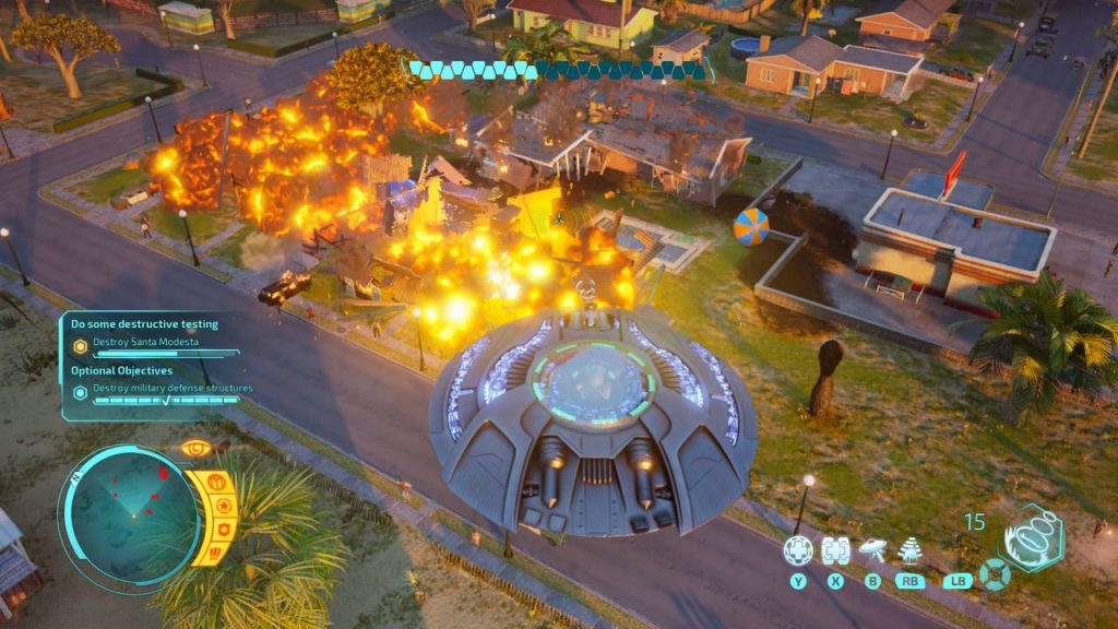 Space Ship Gameplay Destroy All Humans