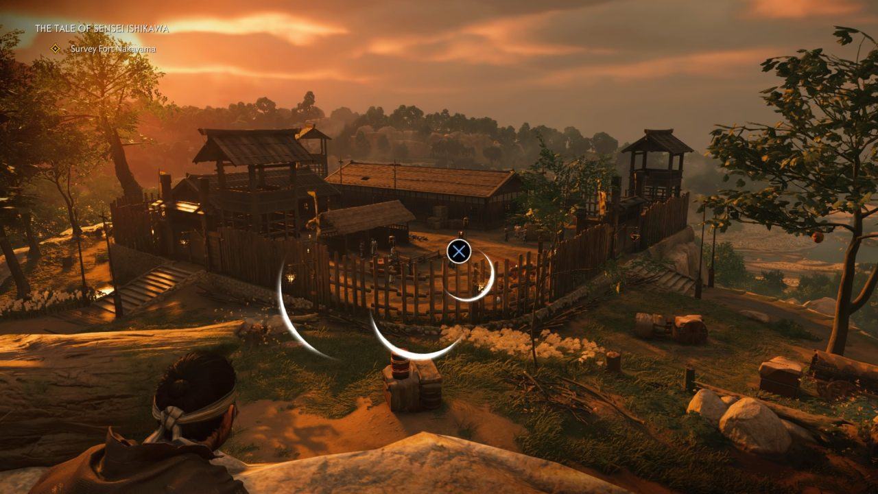Surveying a Town in Ghost of Tsushima
