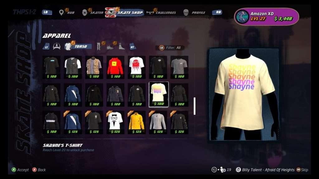 THPS 1 + 2 Skate Shop