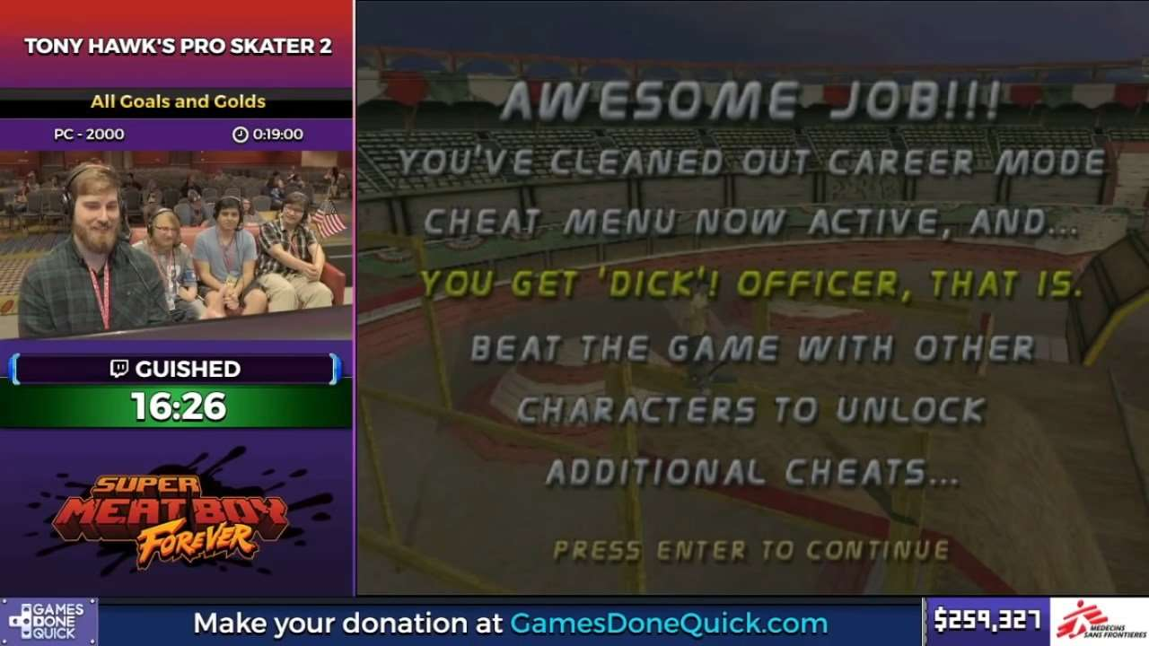 THPS 2 Victory Screen