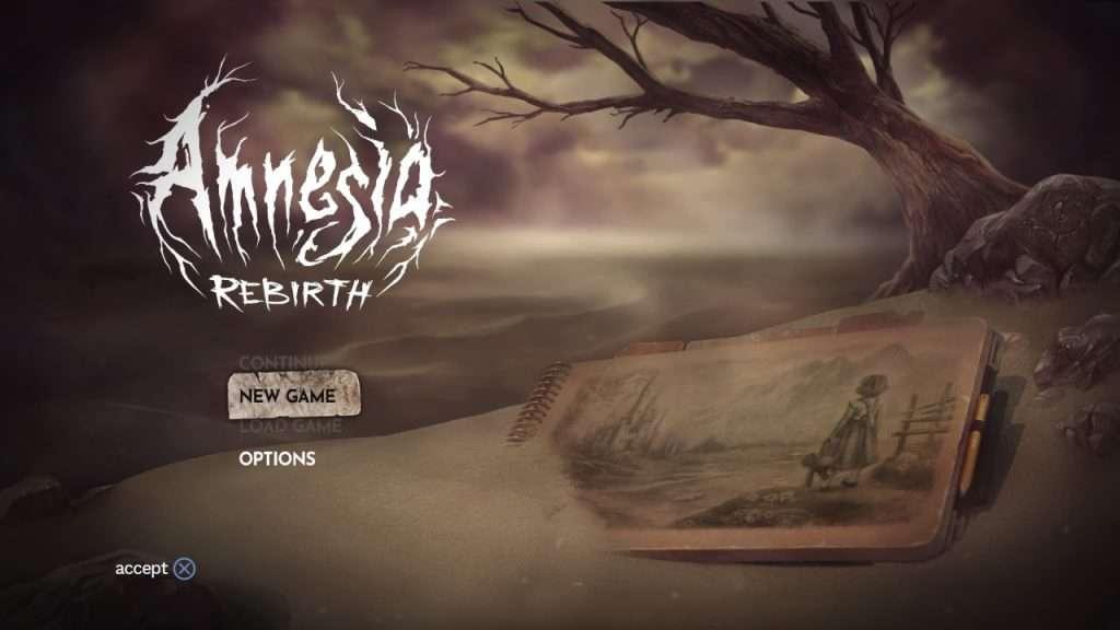 Amnesia Rebirth Title Screen