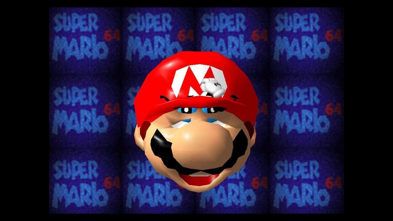 Super Mario 64 Scrunched Mario Face