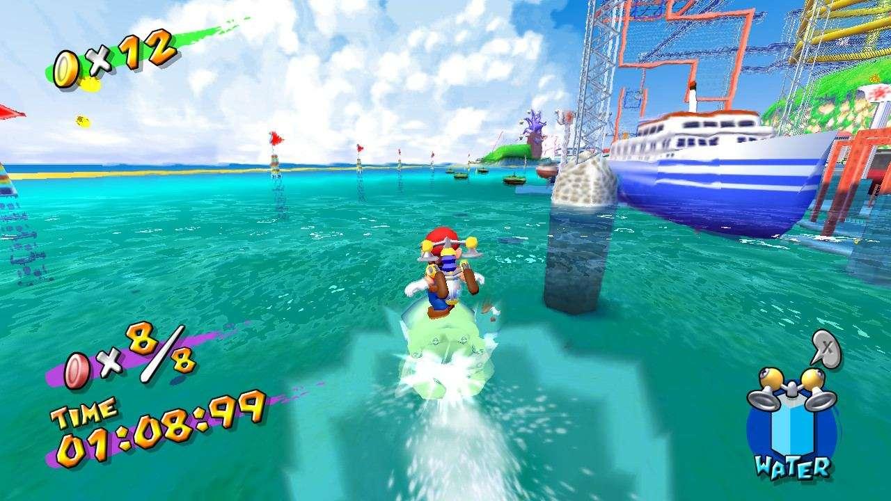 Super Mario Sunshine Blooper Race