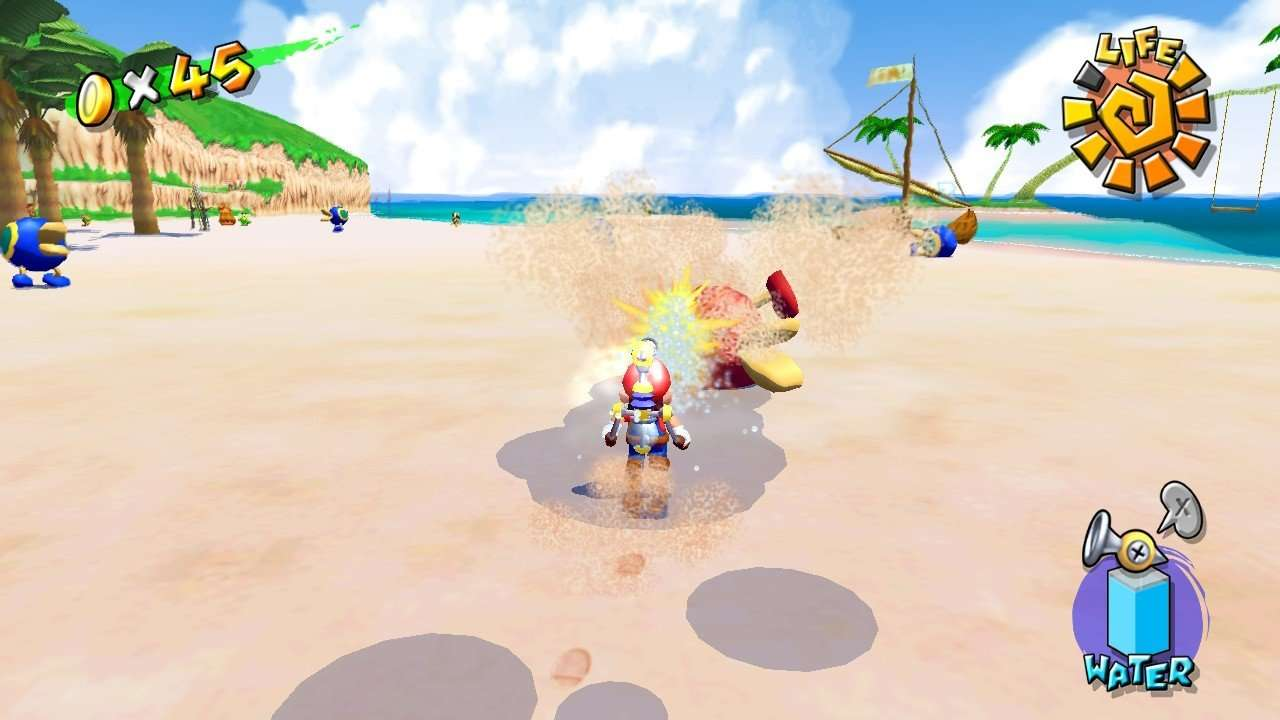 Super Mario Sunshine Spraying FLUDD