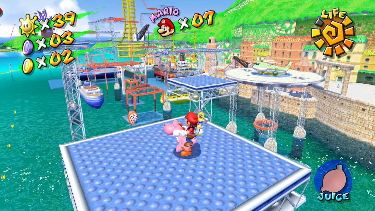 Super Mario Sunshine Ricco Harbor