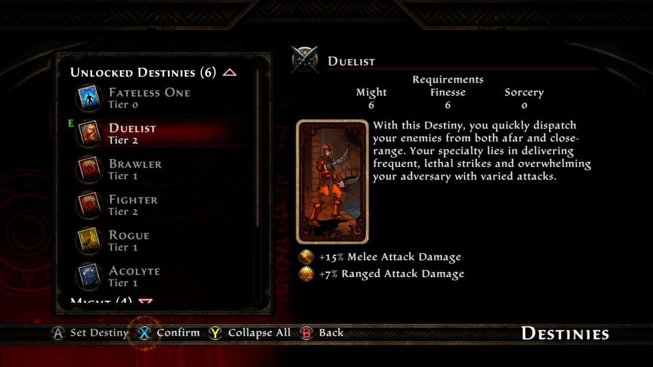 Kingdoms of Amalur Destiny Card