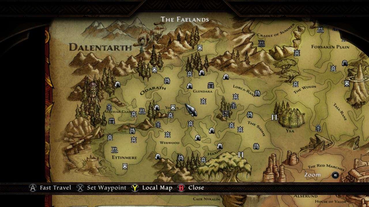 Kingdoms of Amalur Map