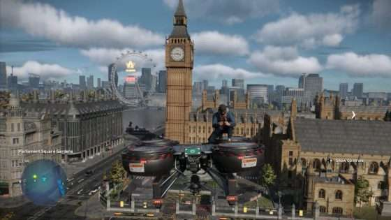 Watch Dogs Cargo Drone Flying
