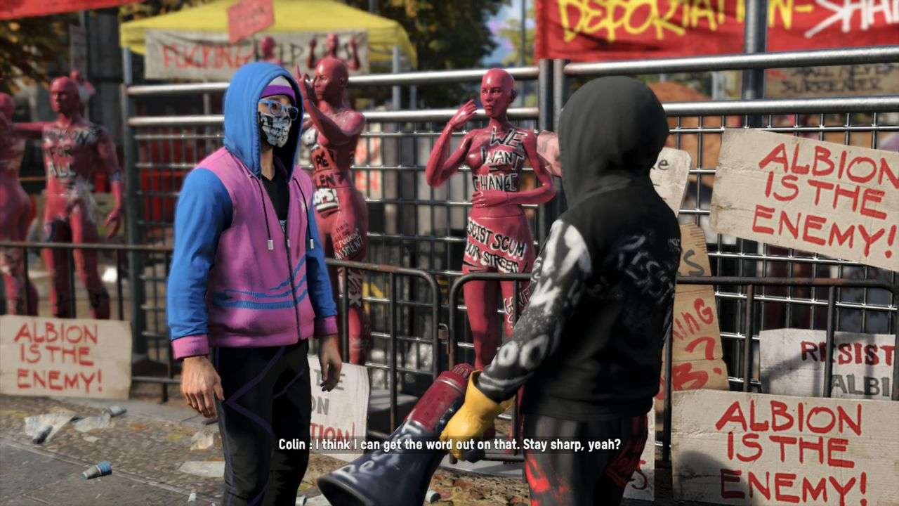 Watch Dogs Legion Protest