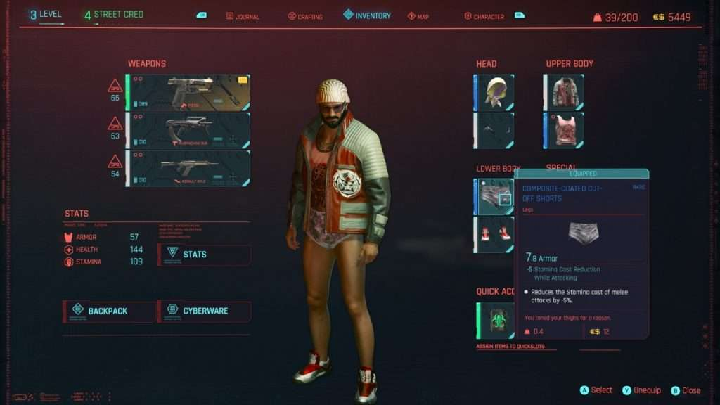 Cyberpunk 2077 Short Shorts