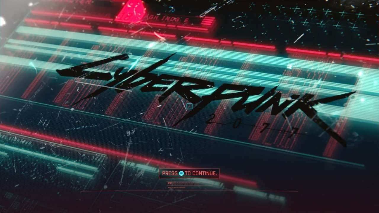 Cyberpunk 2077 Title Screen