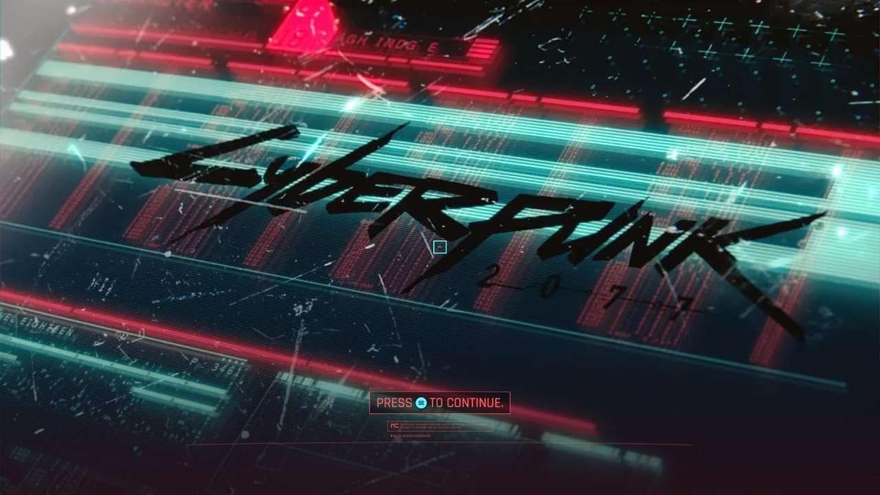 Cyberpunk 2077 Title Screen