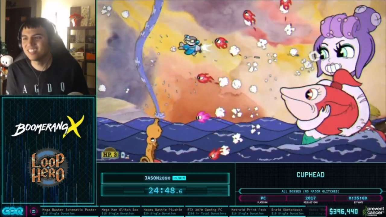 Cuphead at AGDQ 2021