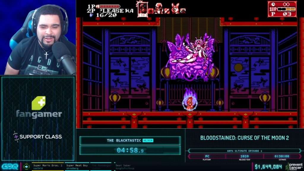 Bloodstained 2 Curse of the Moon AGDQ 2021