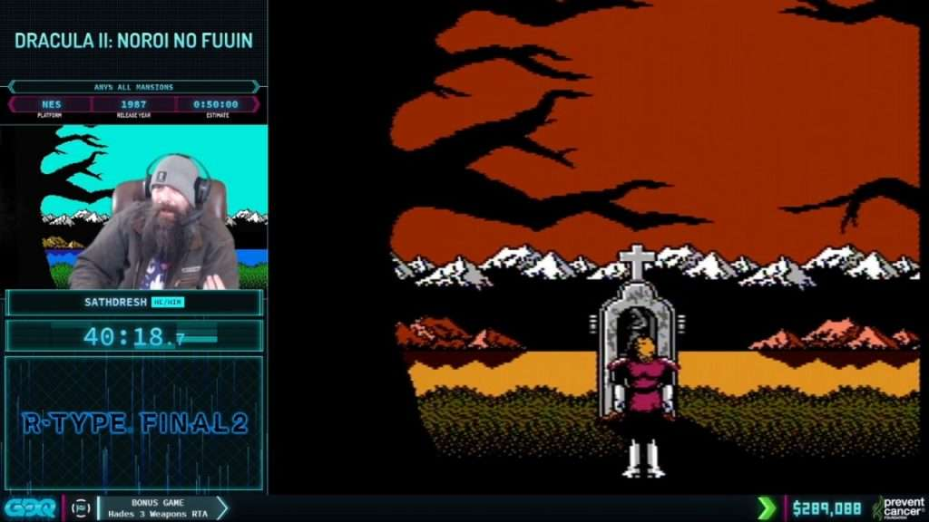 Castlevania 2 at AGDQ 2021