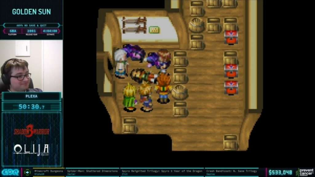 Golden Sun at AGDQ 2021