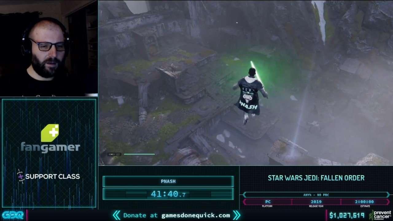 Jedi Fallen Order at AGDQ 2021