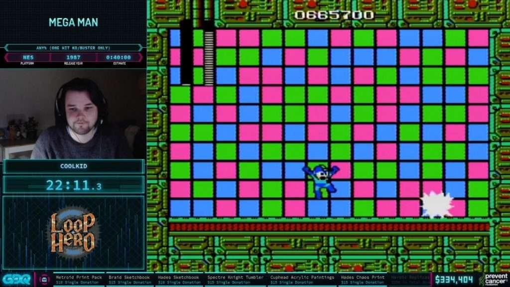 Mega Man at AGDQ 2021