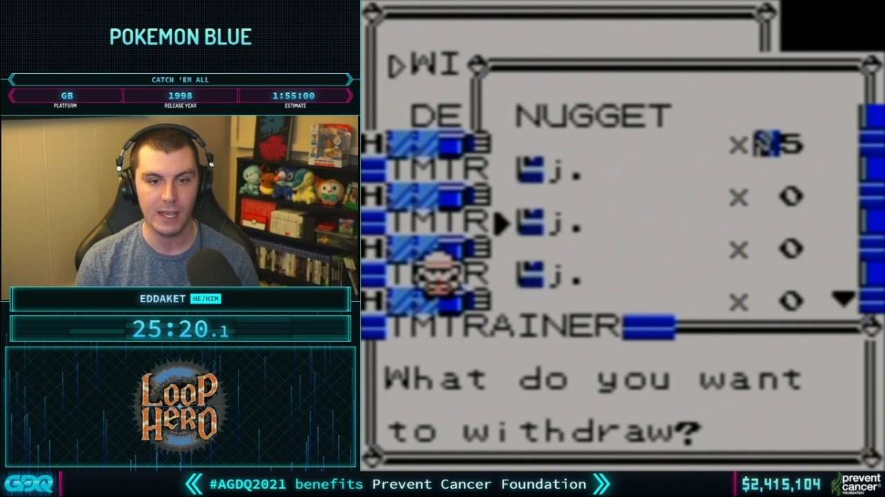 Pokemon Blue at AGDQ 2021