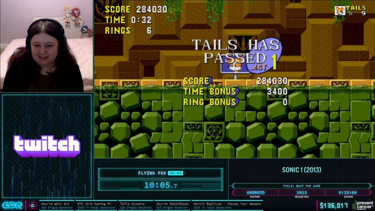 Sonic 1 Android AGDQ 2021