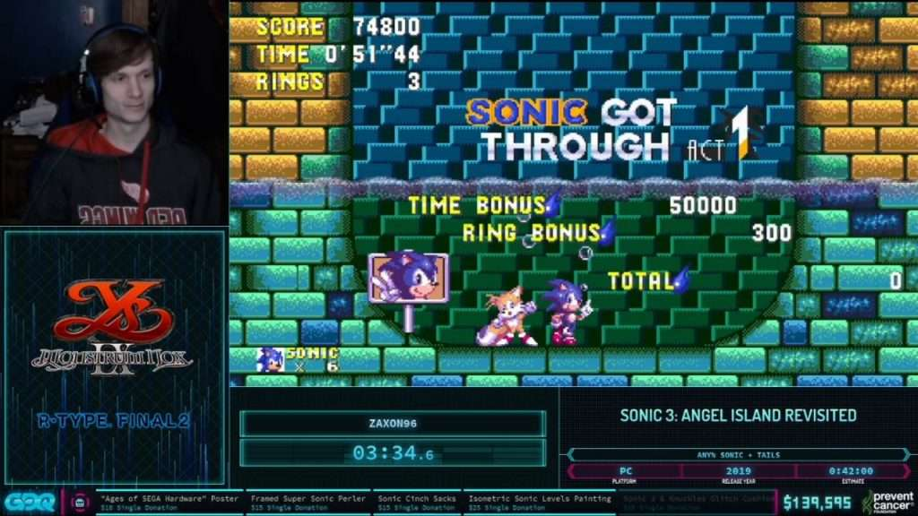 Sonic 3 AIR at AGDQ 2021