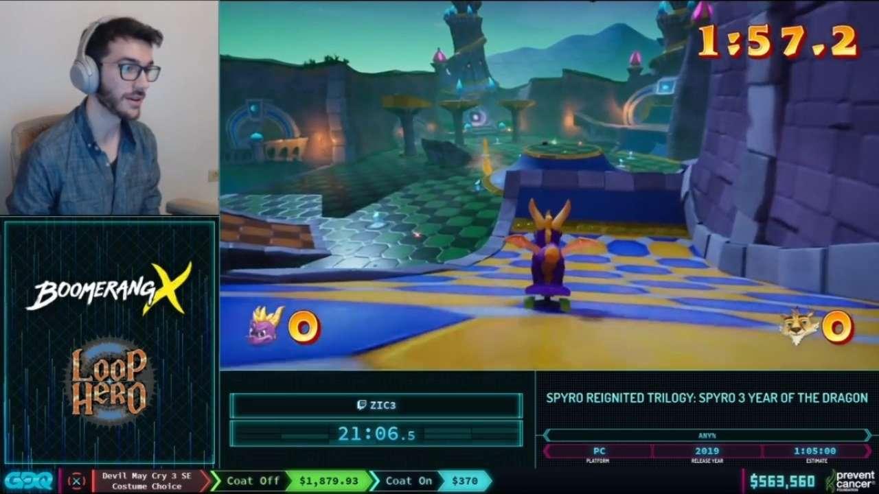 Spyro 3 Skateboarding
