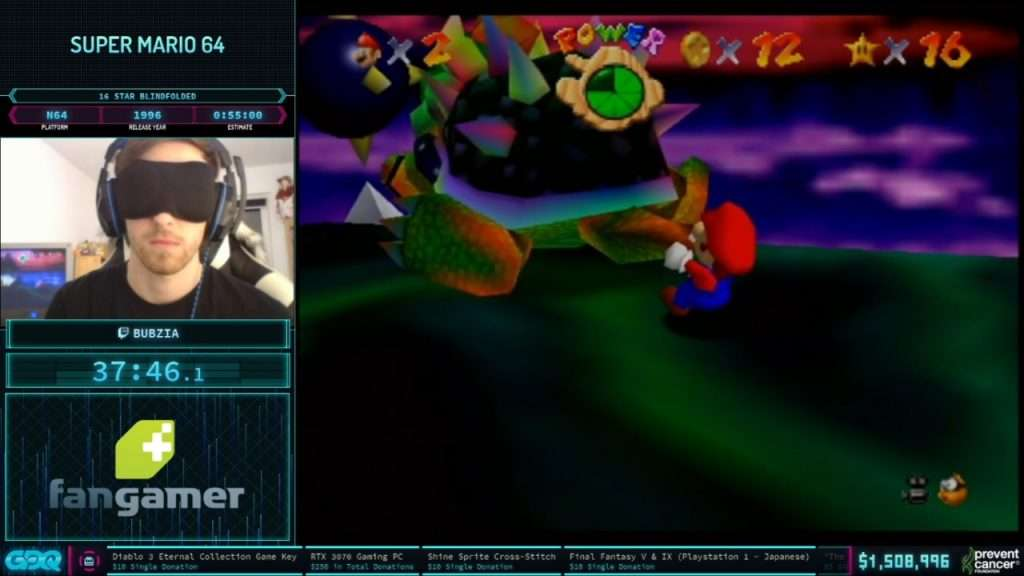 Super Mario 64 Blindfolded at AGDQ 2021