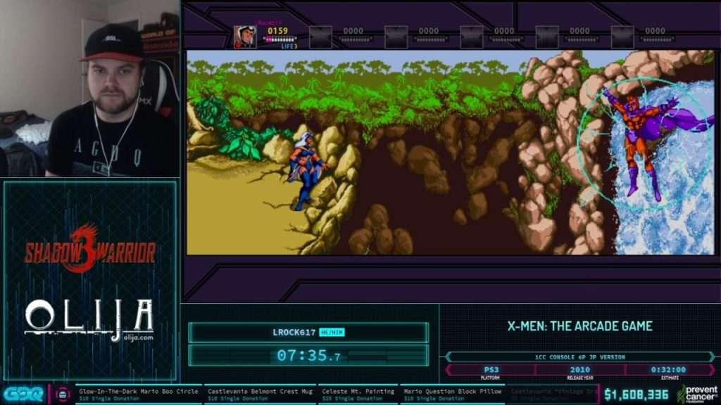 X-Men Arcade at AGDQ 2021