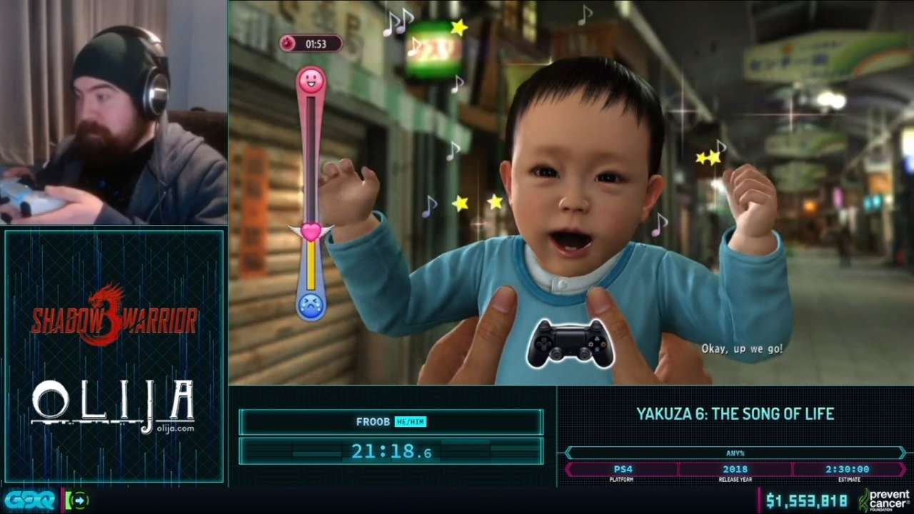 Yakuza 6 at AGDQ 2021