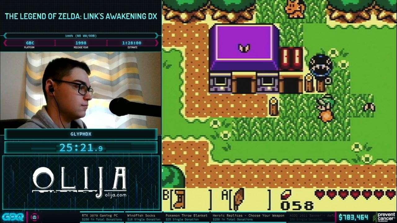 Zelda Links Awakening at AGDQ 2021
