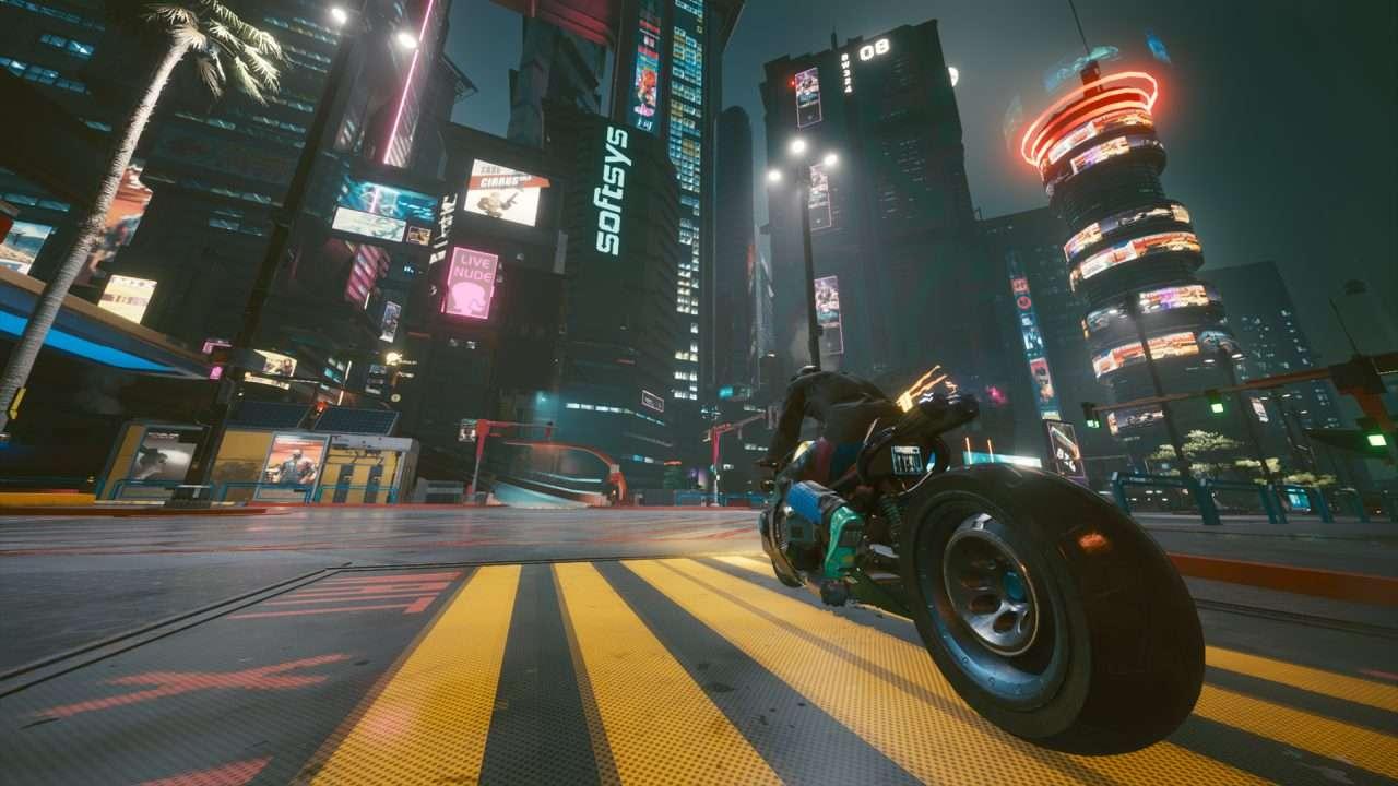 Cyberpunk Motorcycle Glamour Shot