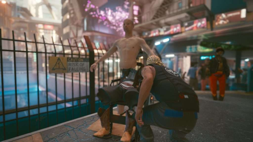 Cyberpunk 2077 TPosing NPC