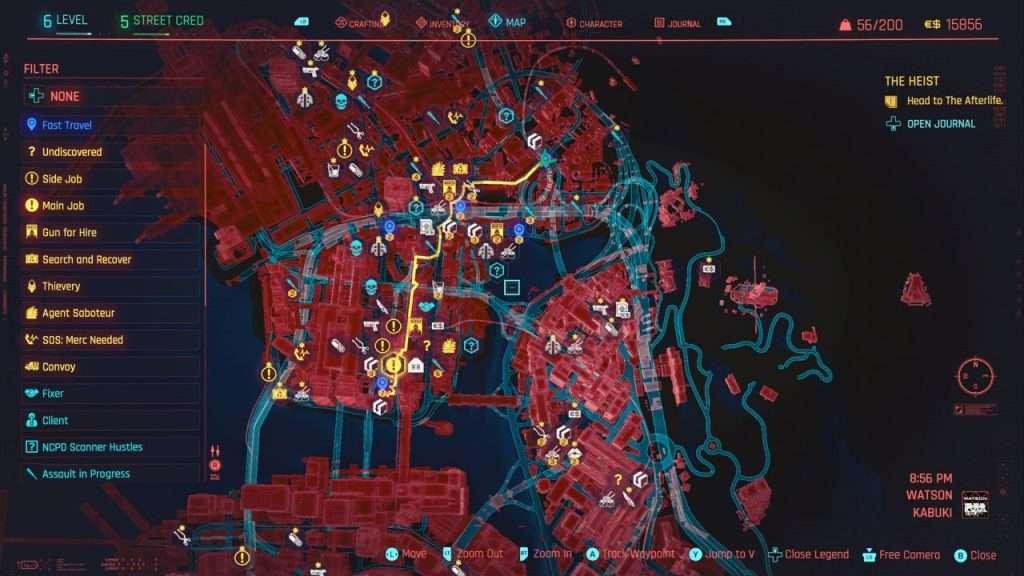 Watson Region Map Cyberpunk 2077