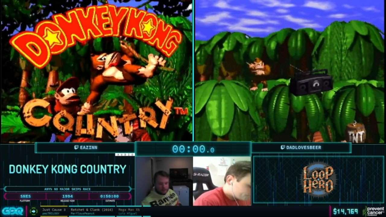 Donkey Kong Country Race at AGDQ 2021