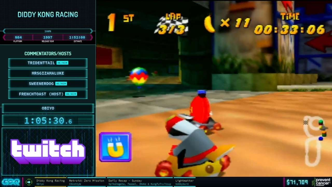 Diddy Kong Racing AGDQ 2021