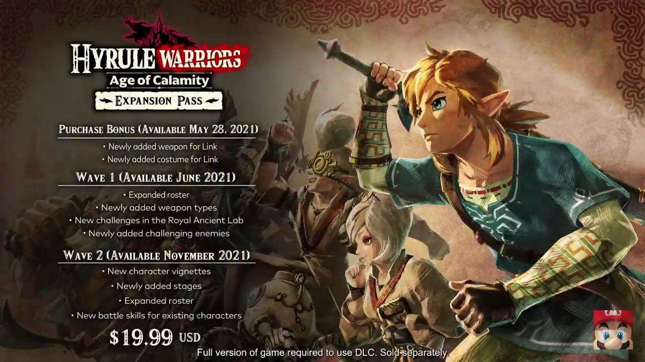 Hyrule Warriors Expansion Pass Roadmap