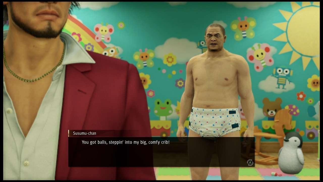 Yakuza Like a Dragon Man in a Diaper