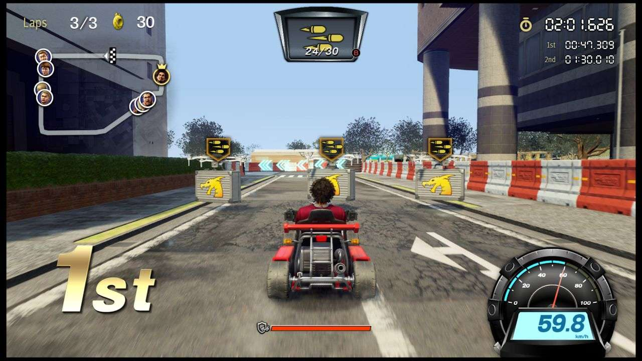 Yakuza Like a Dragon Kart-Racing Gameplay