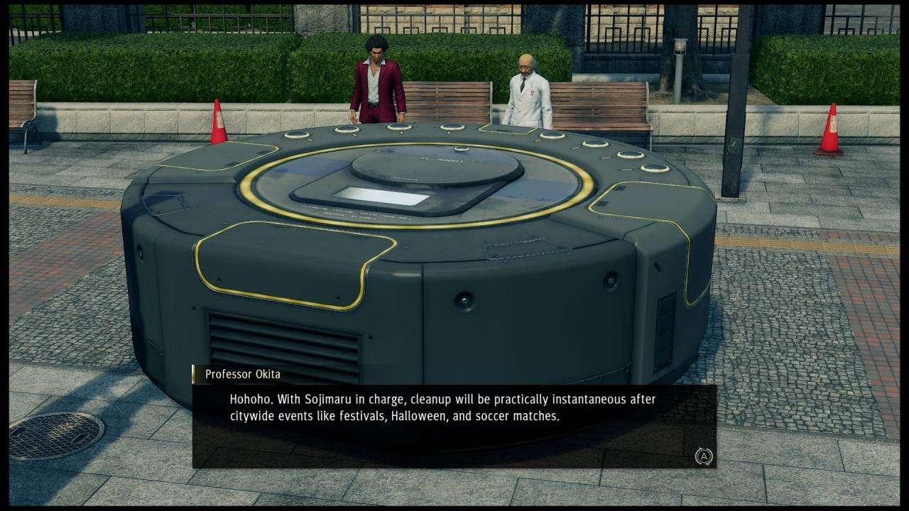 Yakuza Like a Dragon Giant Cleaning Robot